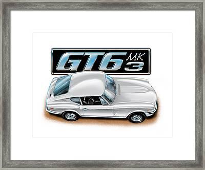 Triumph Gt-6 Mark 3 White Framed Print