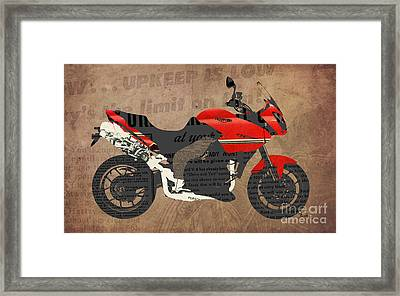 Triumph Motorcycle And The News Framed Print by Pablo Franchi