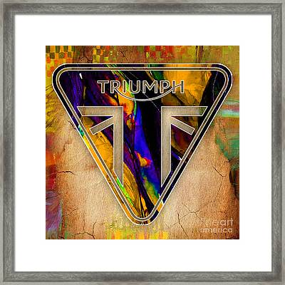 Triumph Motorycle Badge Framed Print