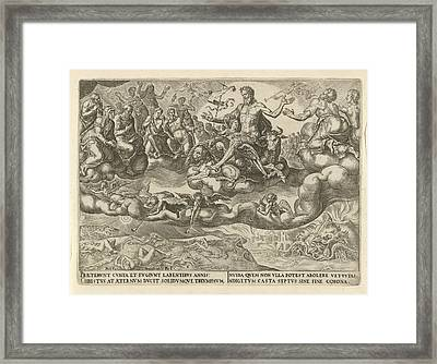 Triumph Of Christ Or The Eternity, Philips Galle Framed Print