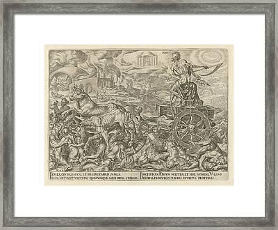 Triumph Of Death, Philips Galle, Hadrianus Junius Framed Print by Philips Galle And Hadrianus Junius