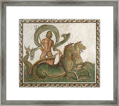 Triumph Of Neptune Framed Print by Roman School
