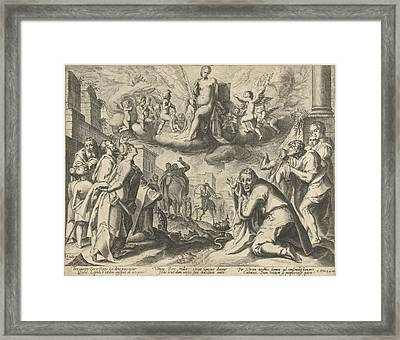 Triumph Of Truth Framed Print by Possibly Nicolaes Jansz. Clock