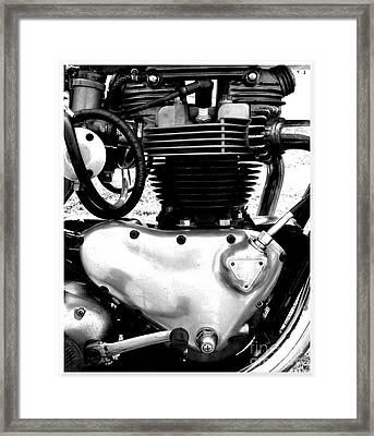 Triumph Pre-unit Engine Framed Print by Rick Salazar