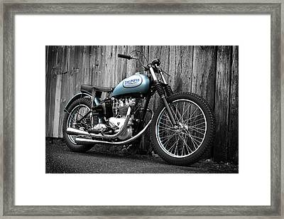 Triumph T100 R Class C Flat Track Racer Framed Print by Mark Rogan