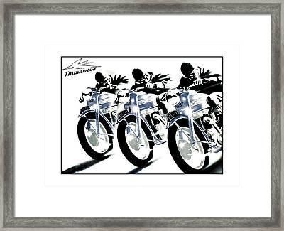 Triumph Thunderbird Trio Framed Print