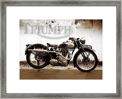Triumph Tiger 80 - 1937 Framed Print by Mark Rogan
