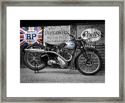 Triumph Tiger 80 1939 Framed Print