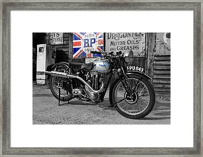 Triumph Tiger 80 Framed Print by Mark Rogan