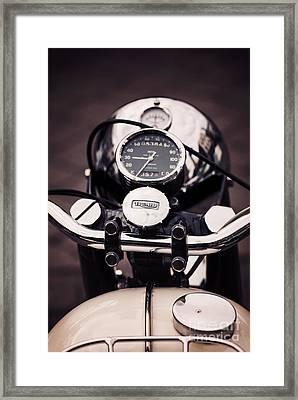 Triumph Tiger 90 Framed Print by Tim Gainey