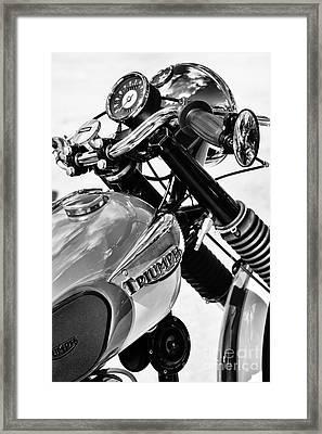 Triumph Tiger Monochrome Framed Print by Tim Gainey