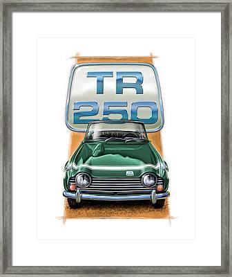 Triumph Tr-250 Sportscar In Dark Green Framed Print