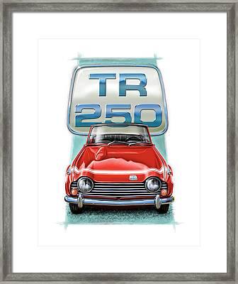 Triumph Tr-250 Sportscar In Red Framed Print by David Kyte