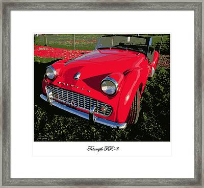 Triumph Tr-3 Framed Print by Don Struke