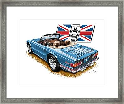 Triumph Tr-6 In French Blue Framed Print