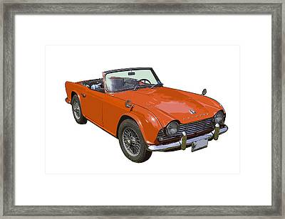 Triumph Tr4 - British - Sports Car Framed Print by Keith Webber Jr