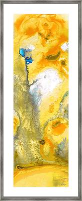 Triumph - Yellow Abstract Art By Sharon Cummings Framed Print by Sharon Cummings