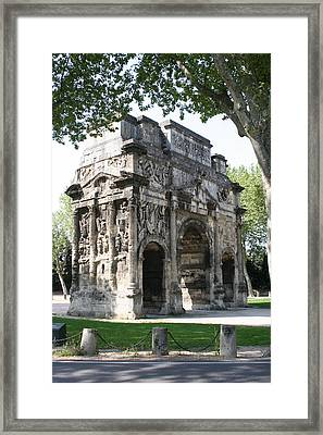 Triumphal Arch - Orange Provence Framed Print by Christiane Schulze Art And Photography