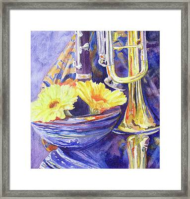 Triumphant Daisies Framed Print by Jenny Armitage