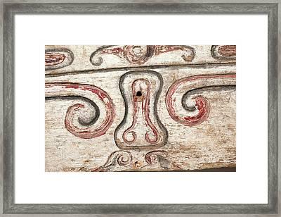 Trobriand House Panel Penis Vulva Design Framed Print by Paul D Stewart