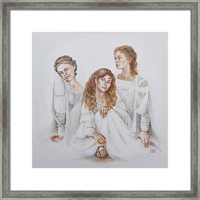 Trois Framed Print