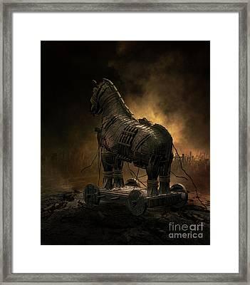 Trojan Horse Framed Print by Shanina Conway