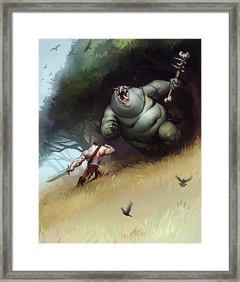 Troll Framed Print by Adam Ford