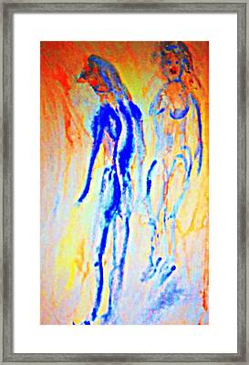 Who Are These Lovers Who Are Forever Lurking Around  Framed Print by Hilde Widerberg