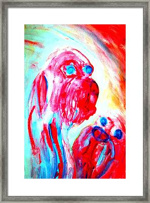 Trying To Be A Decent Troll Mother  Framed Print by Hilde Widerberg