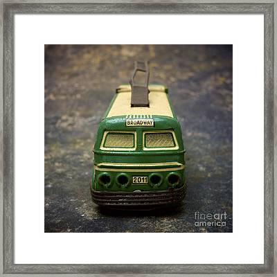 Trolley Bus Toy Framed Print by Bernard Jaubert