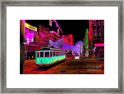 Trolley Night Framed Print