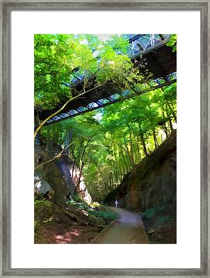 Trolley Trail #9 - Under Westchester Avenue Framed Print