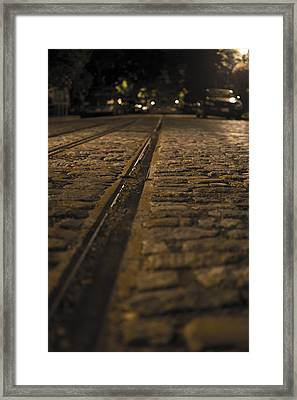 Trollies Came First Framed Print by Michael Williams