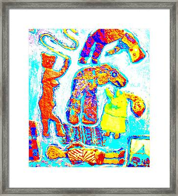 Trolls Also Have Families Framed Print by Hilde Widerberg