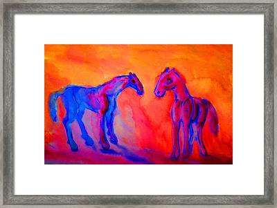 If We Could Start At New I Wouldn't Hesitate I Gladly Take You Back  Framed Print by Hilde Widerberg