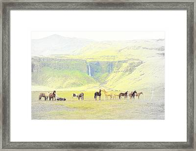 Early Morning In The Mountains Vision  Framed Print by Hilde Widerberg