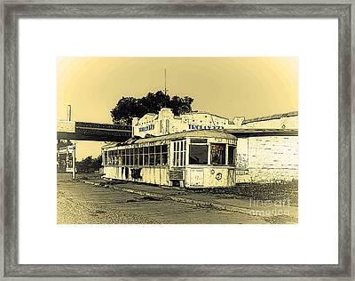 Trolly 373 Truck Stop - Texas Framed Print by Robert Frederick