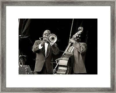 Trombone And Bass Framed Print by Tony Reddington