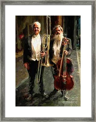 Trombone And Chello Framed Print