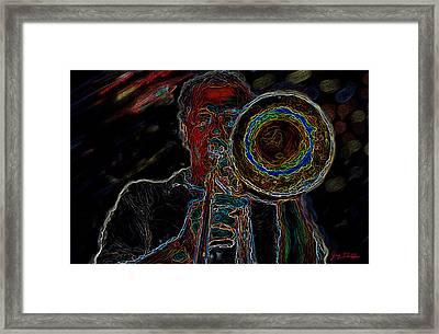 Trombone Player Framed Print
