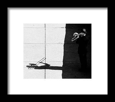 Street Band Framed Prints