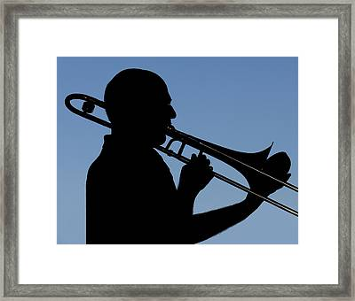 Trombone Player Framed Print