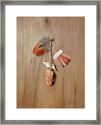 Trompe L'oeil - Gifts Of The Red Land Framed Print by Elena Kolotusha