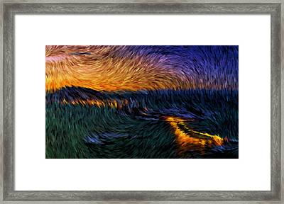 Tromso Norway By Night Framed Print by Mario Carini