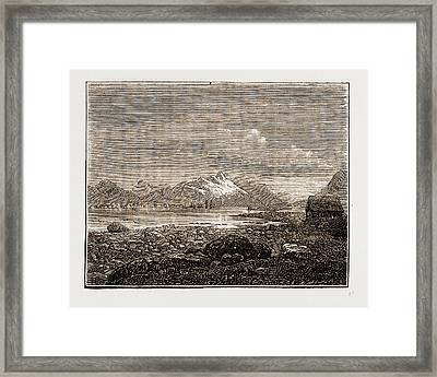 Tromsoe, Norway Engraving 1873 Framed Print by Litz Collection