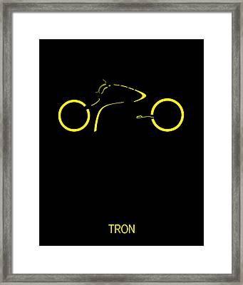 Tron Minimalist Movie Poster Framed Print by Finlay McNevin