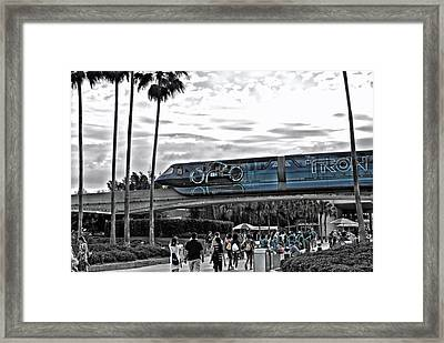 Tron Monorail Wdw In Sc Framed Print by Thomas Woolworth