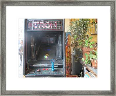 Tron - Stand-up Video Game Framed Print by David Lovins