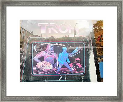 Tron Video Game - Side Cabinet View Framed Print by David Lovins