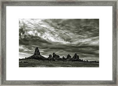 Trona Pinnacles Framed Print